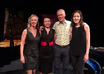 With Tina Chang (piano), James Rolfe (composer) and Katy Rife (percussion)