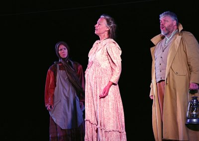 "As Susan Allison, with Barbara Towell (Marie) and Angus Bell (John Allison) - Photo credit: <a href=""https://www.hiredbelly.com"" target=""_blank"" rel=""noopener noreferrer"">Tim Pawsey</a>"