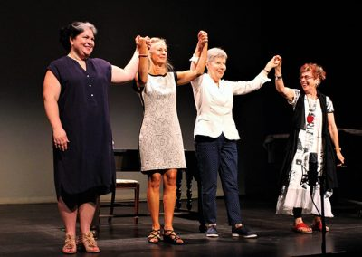 "Megan Letham (The Mother), Heather Pawsey (The Daughter), Leslie Uyeda (composer), Lorna Crozier (poet/librettist) - Photo credit: <a href=""https://www.moosejawtoday.com"" target-""_blank"">Larissa Kurz</a>"